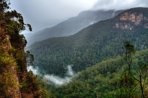 The National Pass in the Blue Mountains, Sydney Australia