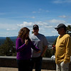Shaun, Deb and Dan at the lookout over Bend and the surrounding mountains, Oregon