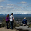 View from lookout over Bend and the surrounding mountains, Oregon
