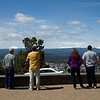 Shaun, Rick, Deb and Dan enjoying the view from lookout over Bend and the surrounding mountains, Oregon