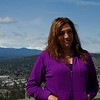 Deb at the lookout over Bend and the surrounding mountains, Oregon