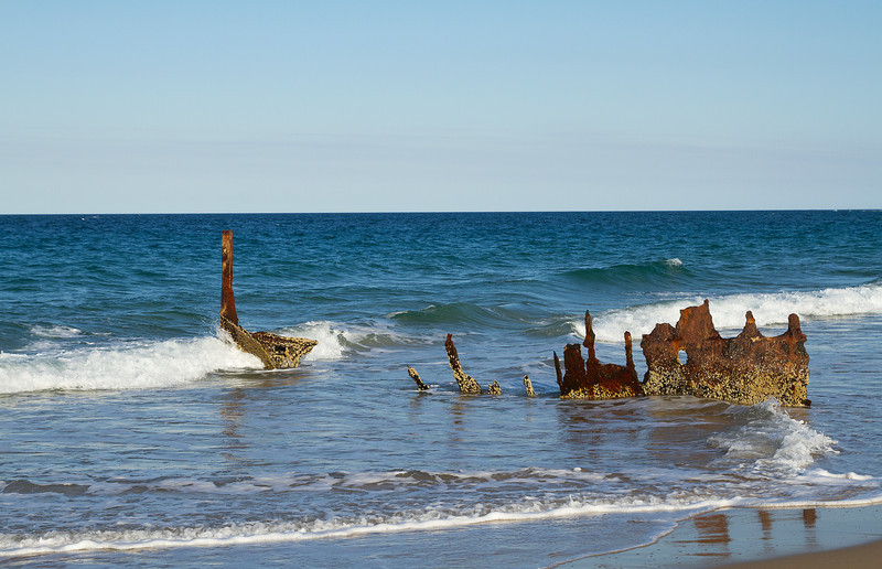 Dickey shipwreck on Dickey Beach Sunshine Coast Australia