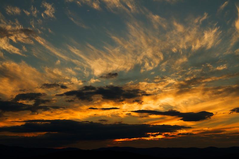 Sunset over the Brindabella Mountains, Canberra Australia