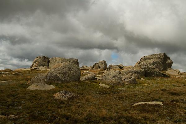Rocks and boulders on Mount Kosciuszko, Australia