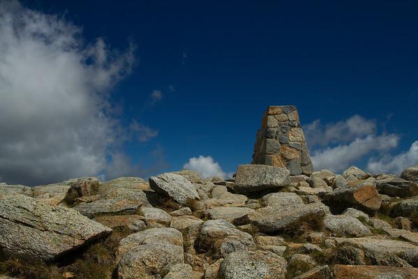 The peak of Mount Kosciuszko, Australia
