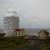 Cape Disappointment Lighthouse being restored, Washington
