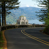 Roads lead to Crown Point and Vista House - Columbia River Gorge