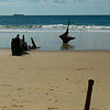 Dicky shipwreck, Dicky beach