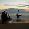 Dickey shipwreck on Dickey beach, Caloundra Australia